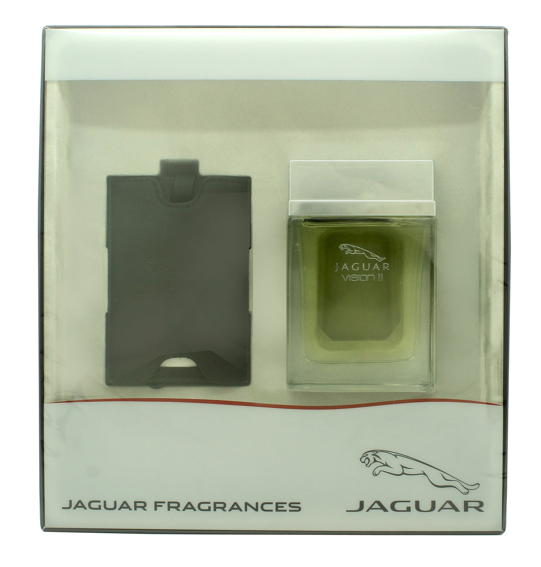 Jaguar Vision II Gift Set 100ml EDT Spray + Luggage Tag