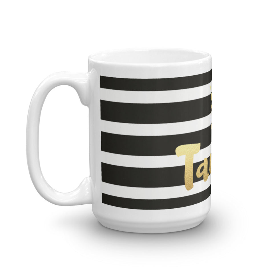 Striped Taurus Mug