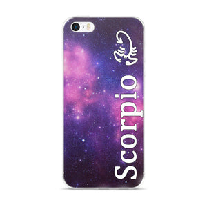 Scorpio Purple Galaxy iPhone Case