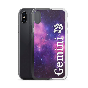 Gemini Purple Galaxy iPhone Case