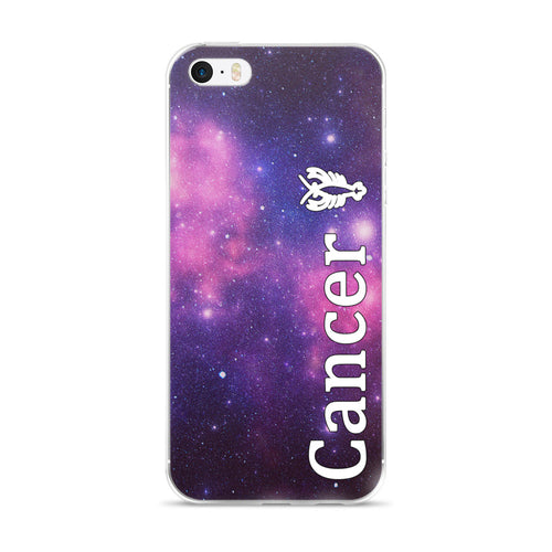 Cancer Purple Galaxy iPhone Case
