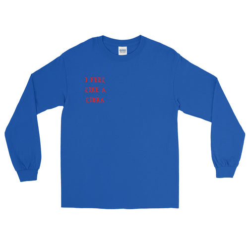 I Feel Like a Libra Blue Long Sleeve T-Shirt