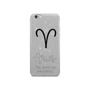 Aries Quote iPhone Case