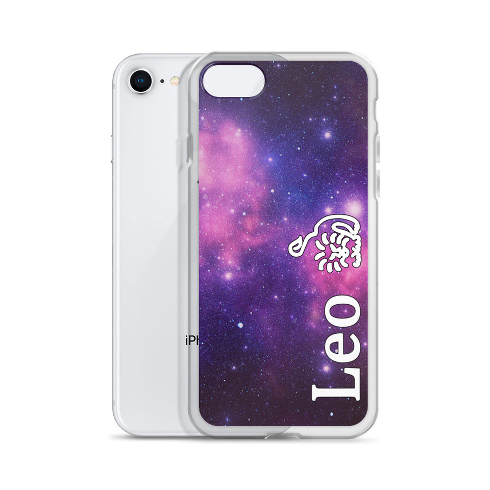 Leo Purple Galaxy iPhone Case