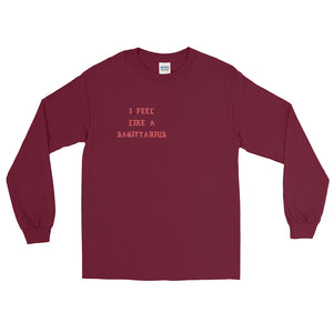 I Feel Like a Sagittarius Red Long Sleeve T-Shirt