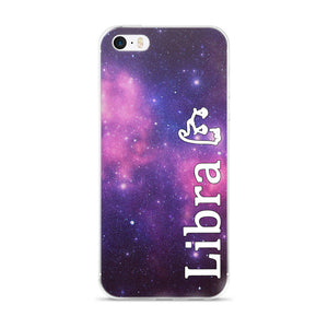 Libra Purple Galaxy iPhone Case