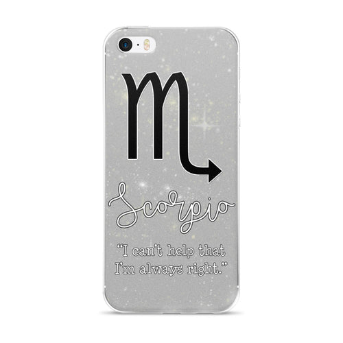 Scorpio Quote iPhone Case