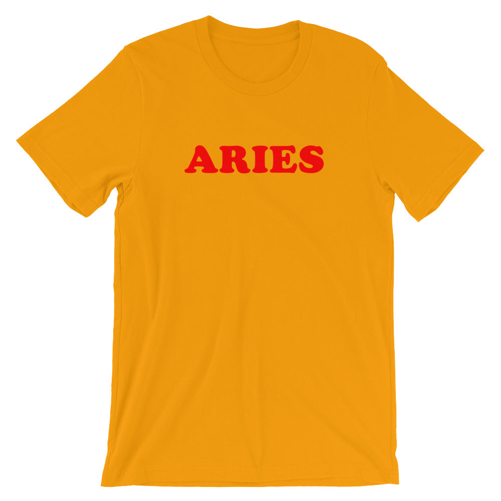 Aries Mustard Yellow Tee