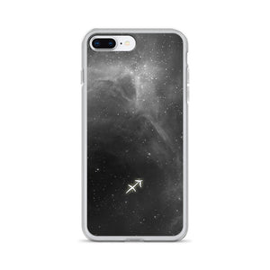 Sagittarius Grey Galaxy iPhone Case