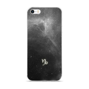 Capricorn Grey Galaxy iPhone Case