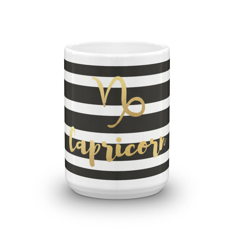 Striped Capricorn Mug