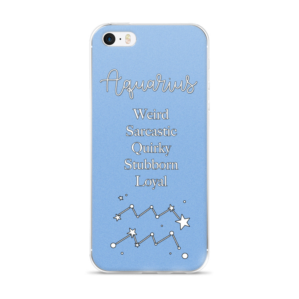Aquarius Traits iPhone Case