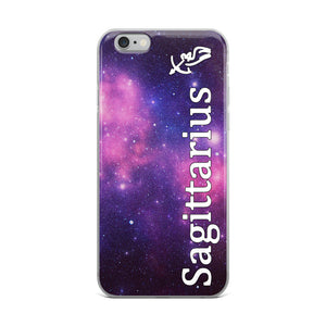 Sagittarius Purple Galaxy iPhone Case