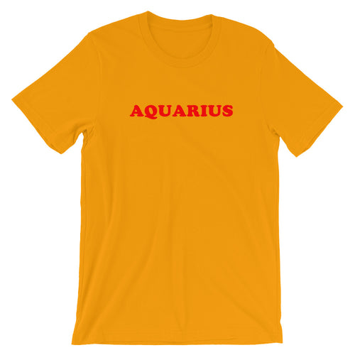 Aquarius Mustard Yellow Tee