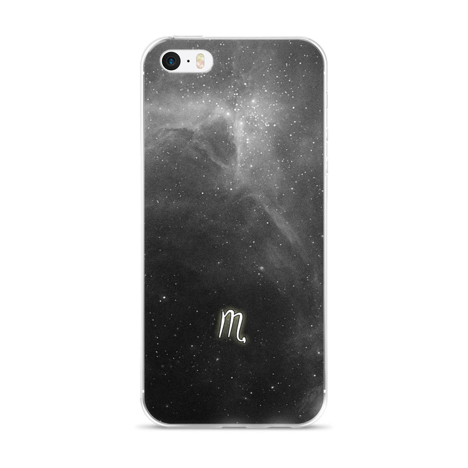Grey Galaxy Scorpio iPhone Case
