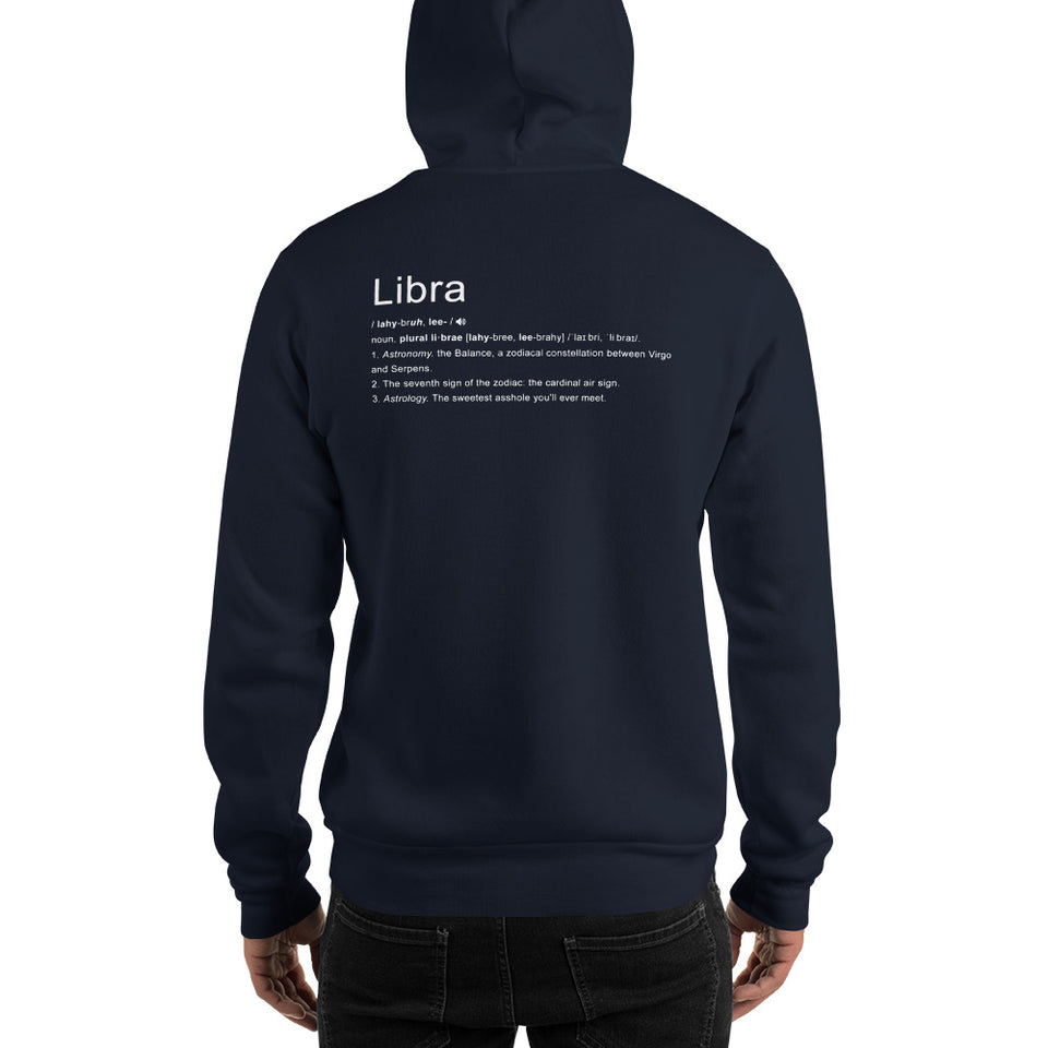 Define Your Sign Unisex Hoodie (Libra)