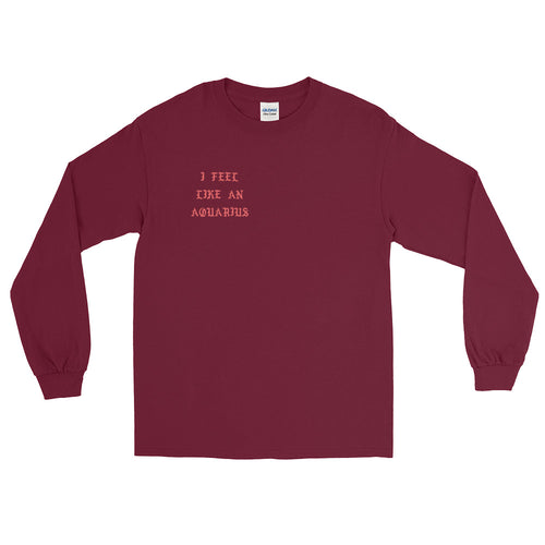 I Feel Like an Aquarius Red Long Sleeve T-Shirt