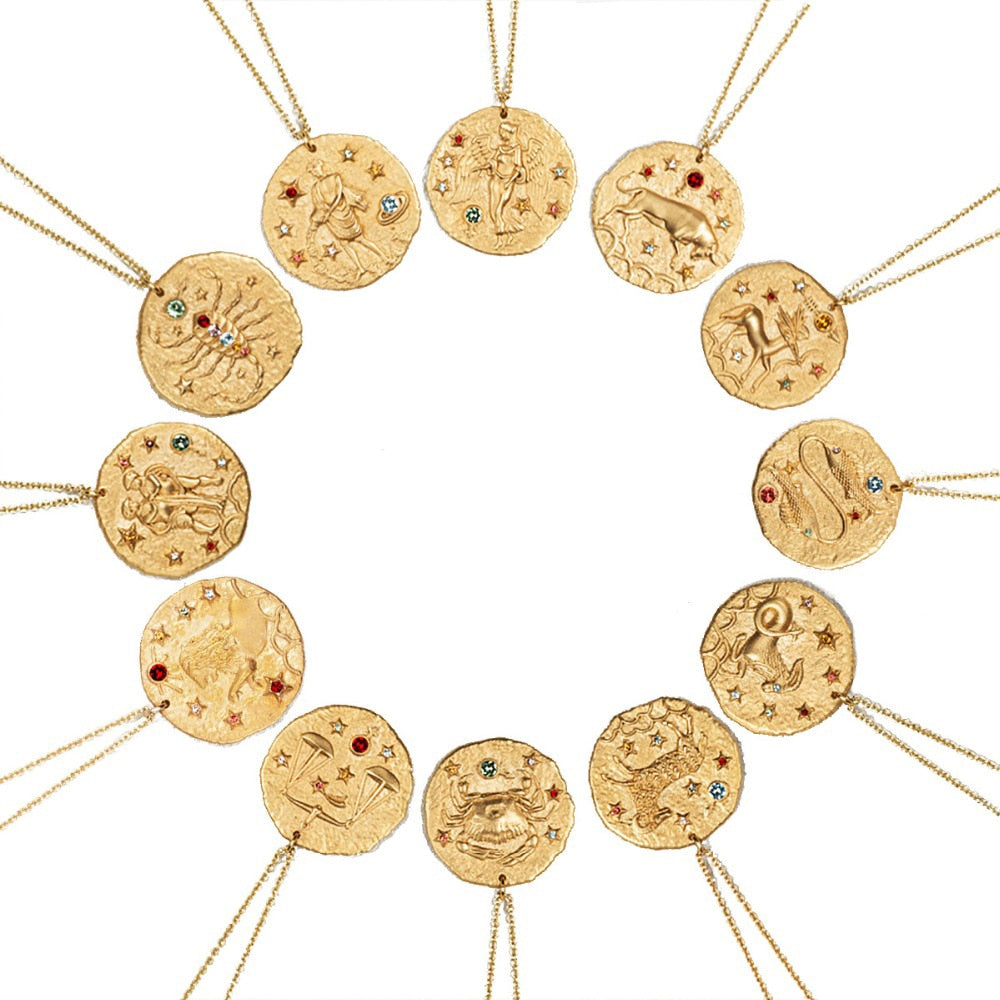 Handmade Gold Plated Zodiac Chain Necklace