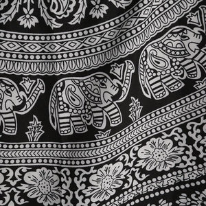 Mandala Hippie Tapestry (Black & White)