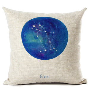 Zodiac Constellation Pillow