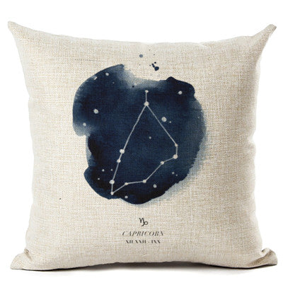Navy Zodiac Constellation Pillow
