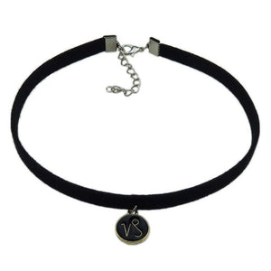 Black Leather Zodiac Choker