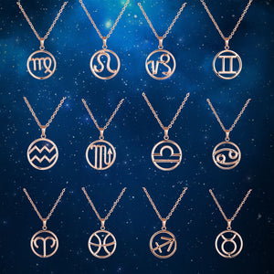 Circular Zodiac Necklace (All 12 Signs!)