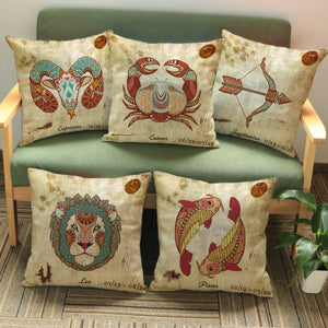 Rustic Zodiac Throw Pillow