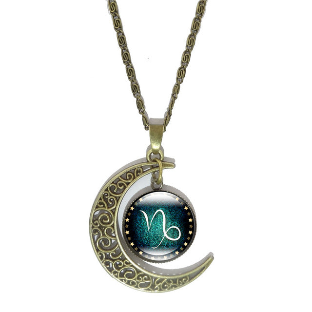 Constellation Crescent Moon Necklace