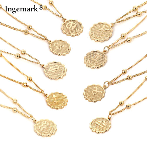 Zodiac Coin Necklace (Silver/Gold)