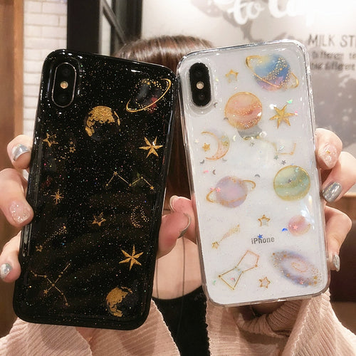 Black and White Planetary Phone Cases (iPhone)