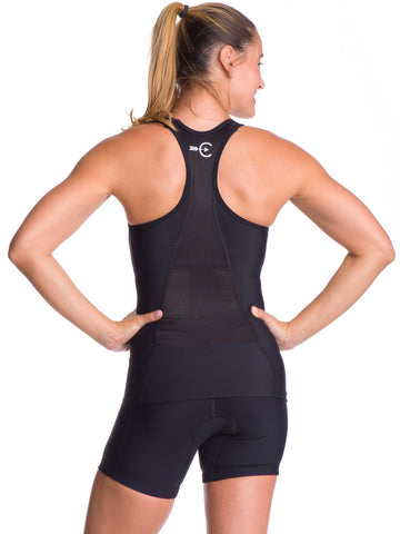 Women's Little Black Triathlon Top - Coeur Sports - Triathlon LAB