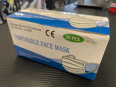 Disposable Face Mask CE Certificate (50 ct.) - Triathlon LAB