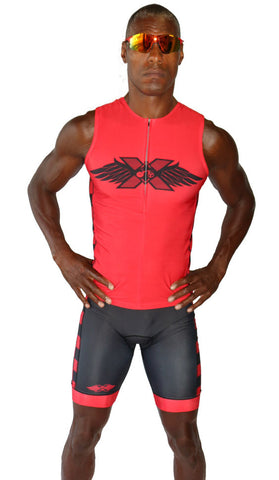 "Men's ""Red"" RacerX Triathlon Top - Triathlon LAB"