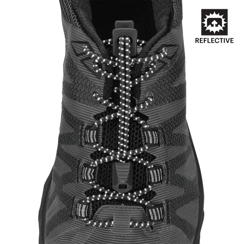 Nathan Run Laces Reflective: One Size Fits Most, Black - Triathlon LAB