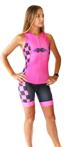 Women's RacerX 'Hot Pink' Triathlon Shorts - Triathlon LAB