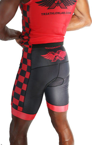 "Men's ""Red"" RacerX Triathlon Shorts - Triathlon LAB"