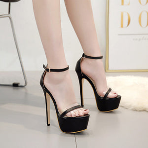 Super high heels for sexy fish mouth sandals