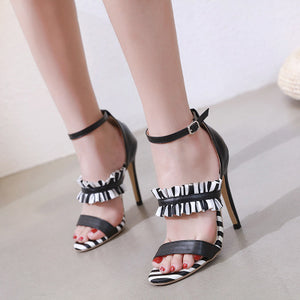 Ohichiic Sexy Summer strappy Heeled sandals