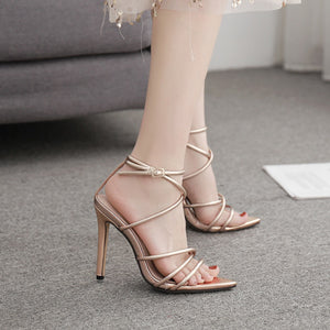 Sexy stiletto sandals with high heels