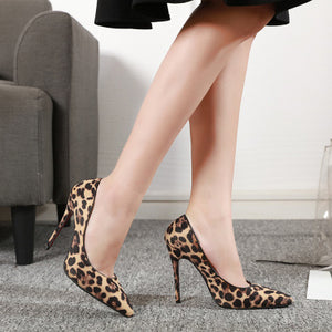 Ohichiic Leopard high heel Faux Pumps