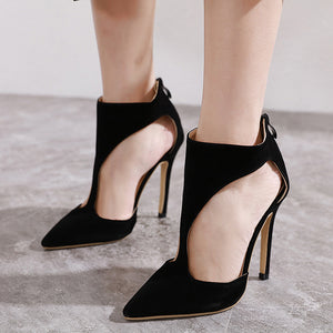Simple and comfortable high-heeled sandals