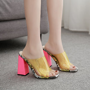 Ohichiic Transparent Fashion Sexy Sandals Slipper