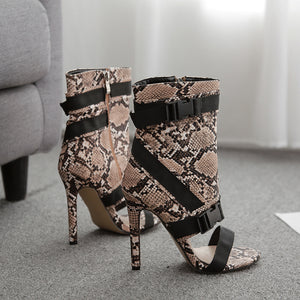 Braided Roman high heel sandals