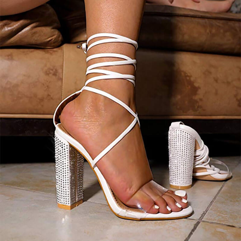 Summer Sparkling Diamond Crystal High Heels Ohichiic Contemporary Women S Shoes At Affordable Prices