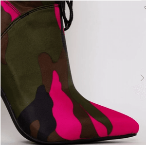 LETISHA NEWEST LYCRA STILETTO TOGGLE ANKLE BOOTS