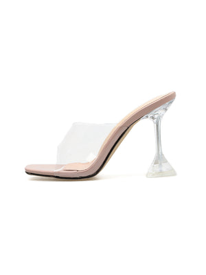 Cool transparent stiletto slippers