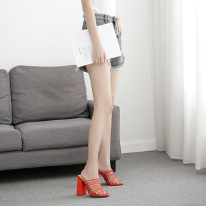 Hot style fine Roman shoes, high-heeled sandals, slippers
