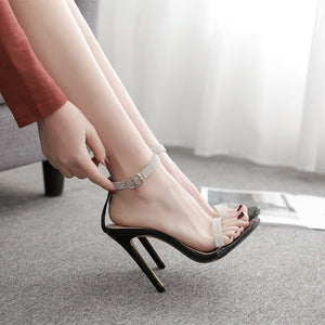 Water diamond sexy high heel sandals