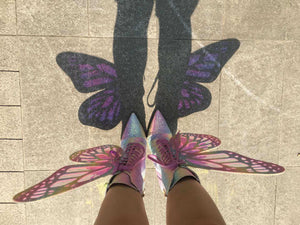PHANTOM BUTTERFLY WINGS STRAP HIGH HEEL BOOTS